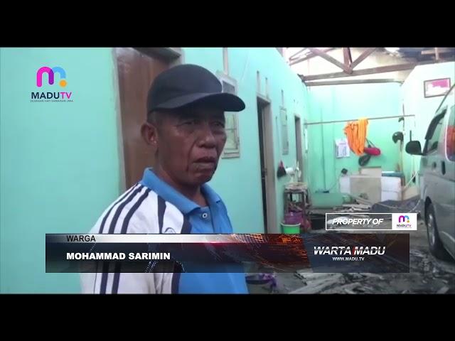 Bangkalan - Hujan Deras Disertai Angin, Puluhan Rumah Diterjang Angin Puting Beliung
