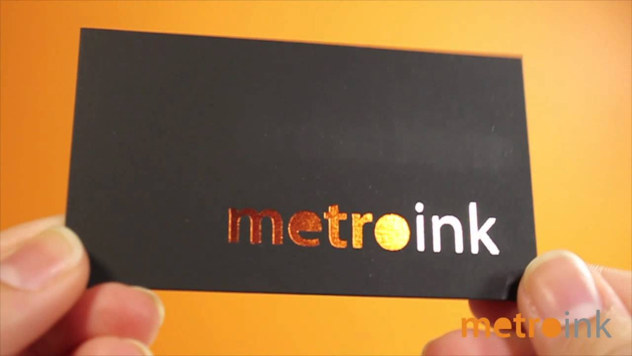 metroink 22pt suede business card with spot uv and foil youtube metroink 22pt suede business card