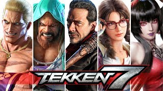 "TEKKEN 7 - All ""RAGE ARTS!"" - Intros & Win Poses!"