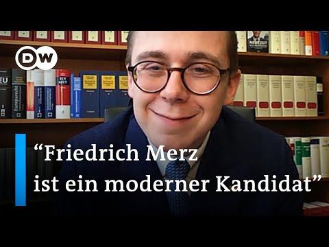 Philipp Amthor über seine Unterstützung für Friedrich Merz | DW Nachrichten