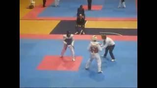 Sự ảo diệu của một vận động viên chuyên nghiệp (giáp đỏ) - Taekwondo Việt