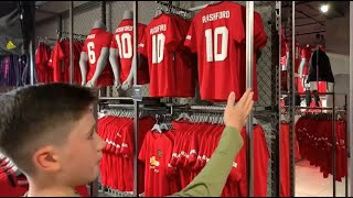 ... yesterday we took our usual annual trip to the megastore purchase new home shirt with