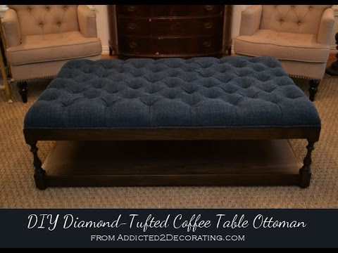 Tufted Fabric Ottoman Coffee Table