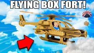 FLYING BOX FORT PLANE CHALLENGE!! 📦✈️