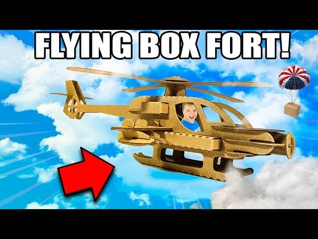 FLYING BOX FORT PLANE CHALLENGE!! 📦✈️