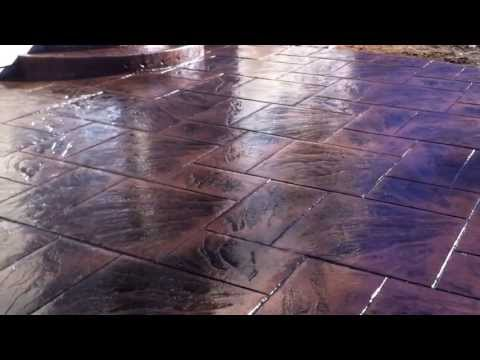 Stamped concrete Colored & stamped concrete installation