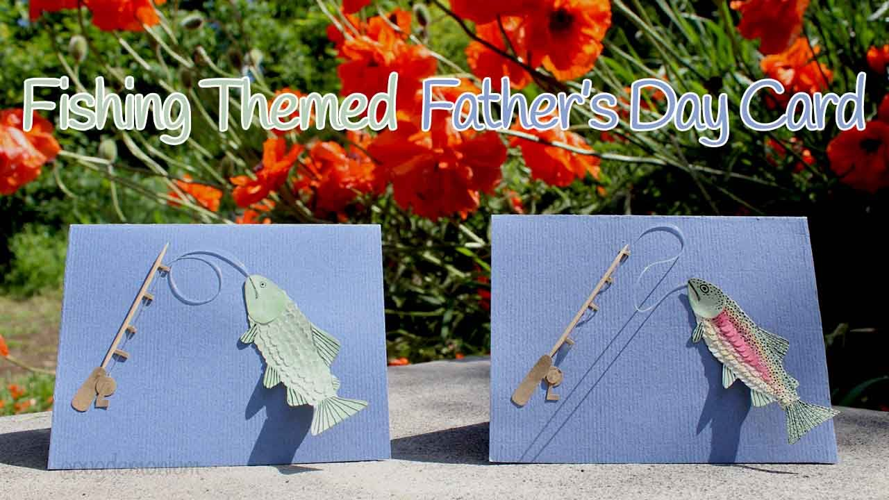 Tutorial: Father's Day Card - Fishing Themed 🐟 - YouTube