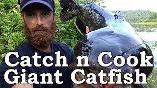 Catch n Cook | MASSIVE Catfish!!! | Beyond Survival | The Wilderness Living Challenge 2017 | S02E07