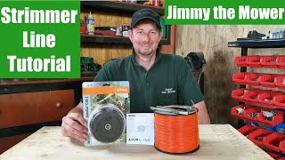 How to load Strimmer line / string on to a stihl strimmer / weed wacker auto cut head. Tutorial