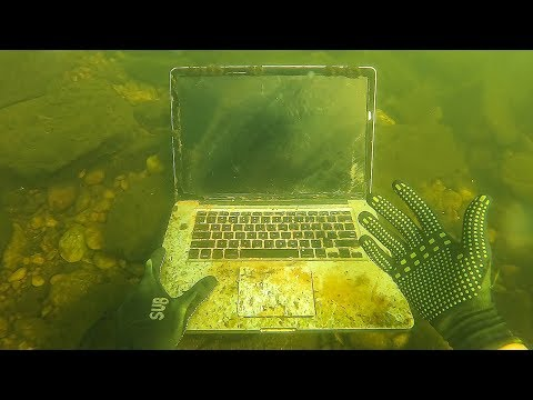 Found Macbook, Apple Watch and a GoPro Underwater in River! (Scuba Diving)