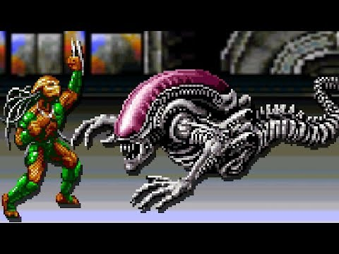 Alien Vs Predator (SNES) All Bosses (No Damage)