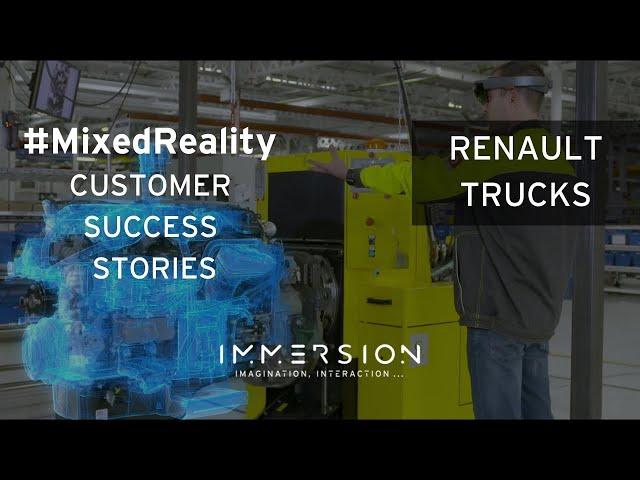 Aperçu Réalité mixte : Renault Trucks en route vers l'industrie 4.0 avec Immersion (Microsoft HoloLens)