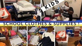 SCHOOL CLOTHES & SUPPLIES HAUL // 5 KIDS IN SCHOOL // SHOPPING ON A BUDGET