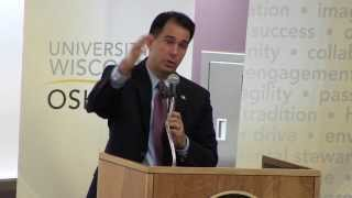 Gov. Scott Walker addresses UW Oshkosh University + Community Day