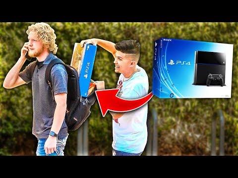 Sneaking PS4's In Backpacks