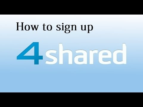 How to sign up 4Shared  របៀបបង្កើតគណនេយ្យ 4Shared  Khmer Computer Technology