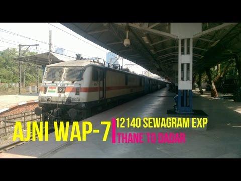 Thane to Dadar journey in aggressive WAP-7 12140 Sewagram Express | Indian Railways |