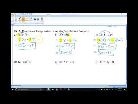 1.4: The Distributive Property (Algebra 1)