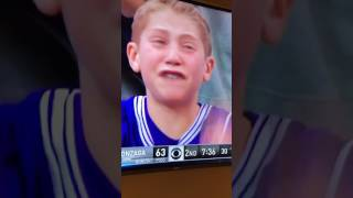 Northwestern Mega Fan sheds tears over bad calls. 03/18/2017. Northwestern vs. Gonzaga NCAA Tourney