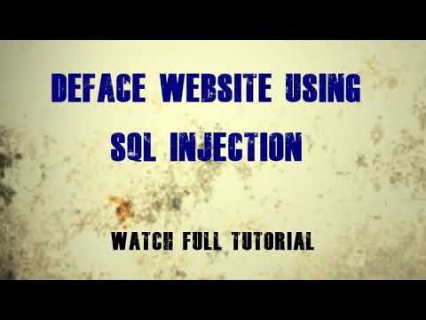 How to Hack Deface a Website with Kali Linux using SQL Injection Tutorial