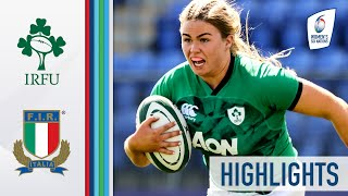 Ireland v Italy HIGHLIGHTS Murphy Crowe Shines In 3rd Place Final 2021 Women s Six Nations