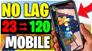 HOW TO FIX ALL LAG ON ROBLOX FOR MOBILE! (ROBLOX)