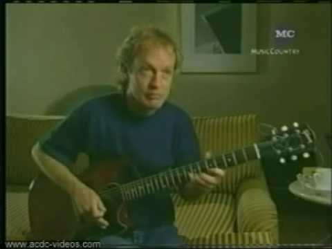 AC/DC / Angus Young interview about writing songs.