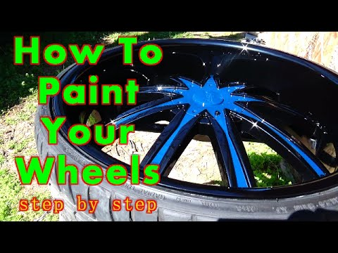 How To Paint Your Car Wheels A TwoTone Color ALLKANDY WET WET - Rim websites that show your car