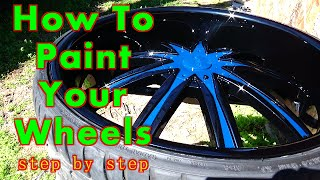 How To Paint Your Car Wheels A Two-Tone Color / ALLKANDY WET WET / Curb Rash Repair On Your Rims