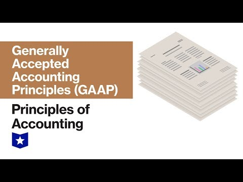 Generally Accepted Accounting Principles (GAAP) | Principles Of Accounting
