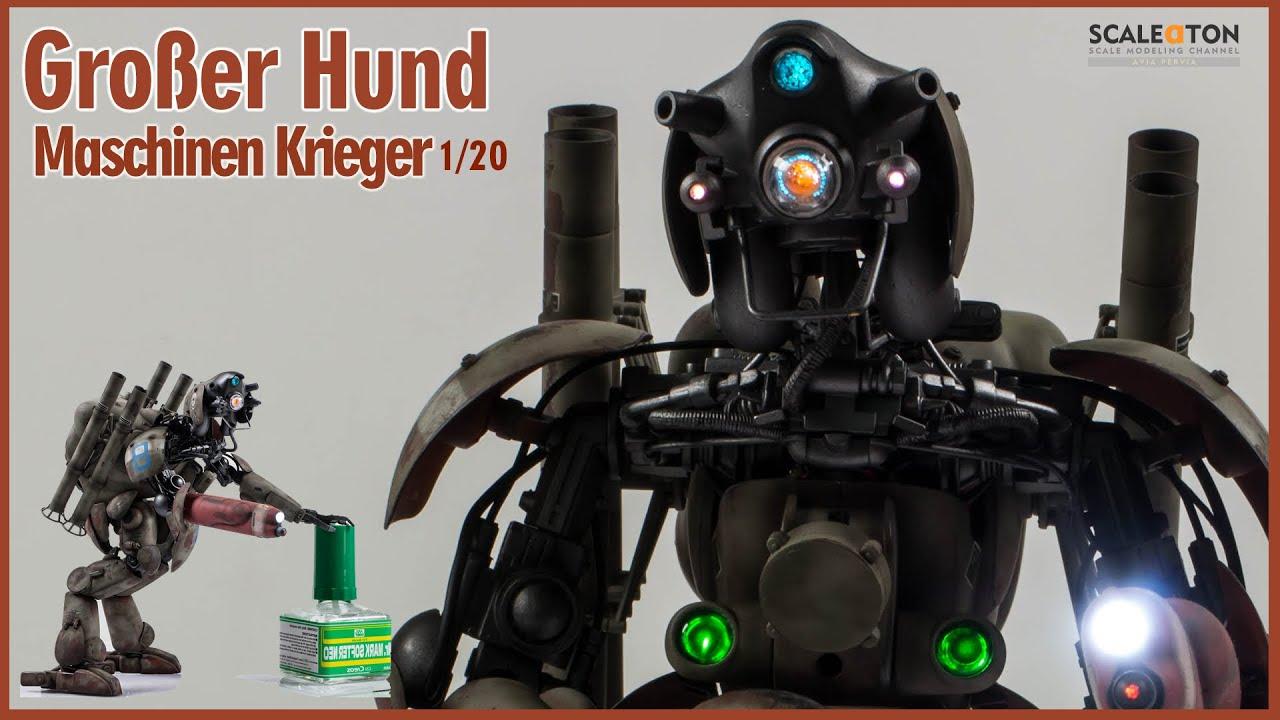"""Großer Hund Ausf K. """"KYKLOP"""" 1/20 Hasegawa Maschinen Krieger ZbV3000 Model Android"""