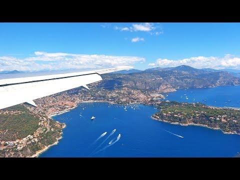 Stunning Approach and Landing at Nice Côte d'Azur Airport - British Airways Boeing 767