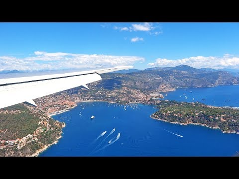 Stunning Approach and Landing at Nice Côte d'Azur Airport - British Airways Boeing 767
