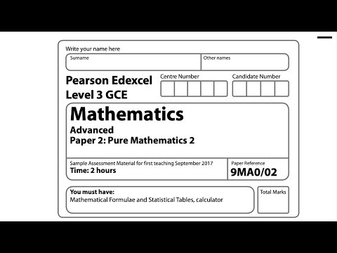 [NEW SPEC] A-Level Pure Mathematics 2 - Sample Assessment Paper 2 exam  (Edexcel)