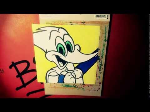 Pop Art Drawing - WOODY WOODPECKER [BLEEBO ART]