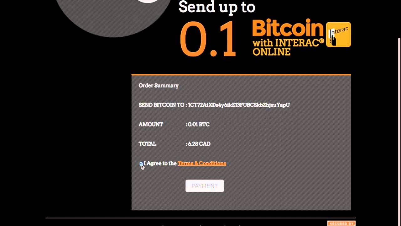 sell bitcoin interac