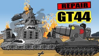 """Revival of Monster GT44"" Cartoons about tanks"