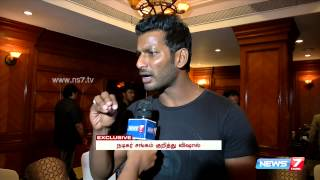 "Actor Vishal opens about ""Paayum Puli"" controversy  spl tamil cinema video hot news 03-09-2015 News7 Tamil Exclusive"