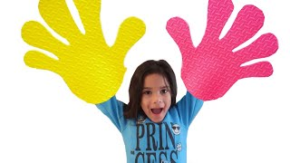 Put Your Hands in the Air Song  Sing Along Nursery Rhymes & Kids Song by Sam and Abby
