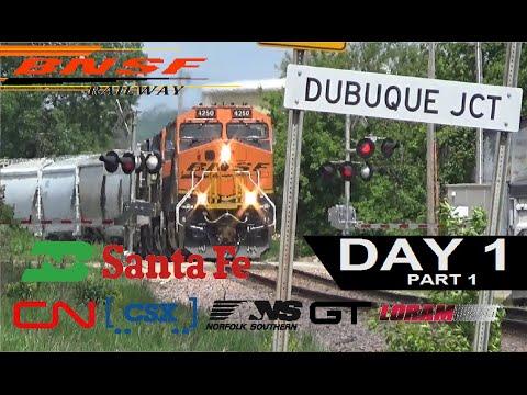 Railfanning on NTD East Dubuque, IL Dubuque, IA Day 1