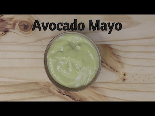 Avocado Mayo - Simple and Healthy - Dairy Free and Eggless - Vegan