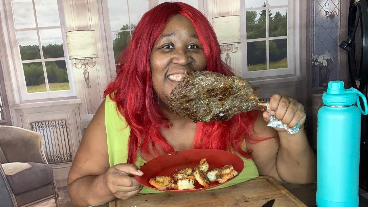Tomahawk Ribeye Steak & Shrimps Mukbang| Eating Show #Tomahawksteak, #Mukbang, #Homemademukbang,