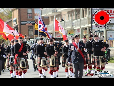 Remembrance Day Parade Bradford West Gwillimbury 2018