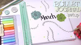 PLAN WITH ME - March 2018 Bullet Journal Setup   SoCraftastic