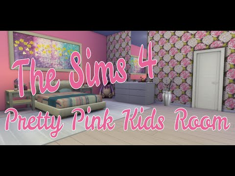The Sims 4 Room Build - Pretty Pink Kids Room - YouTube