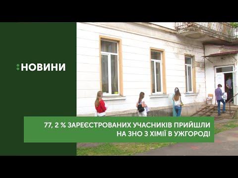 77, 2 % зареєстрованих учасників прийшли на ЗНО з хімії в Ужгороді