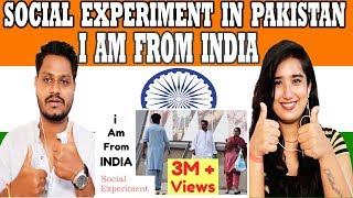 Indian Reaction On I AM FROM INDIA - Social Experiment in Pakistan |Krishna Views