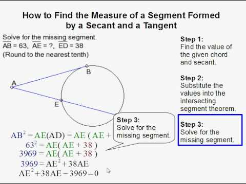 How To Find A Segment Formed By A Secant And Tangent Youtube