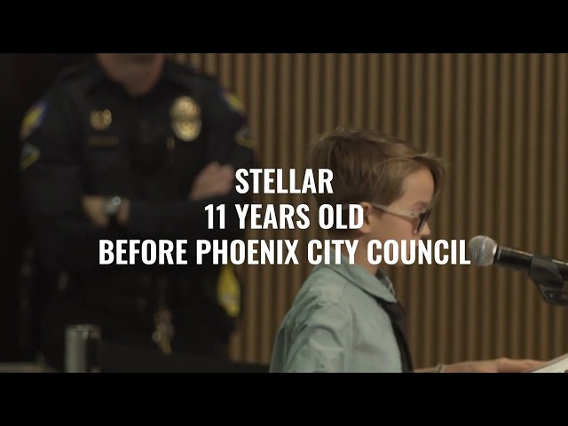 Young Boy Refutes Mayor's Position (In Front of Her)