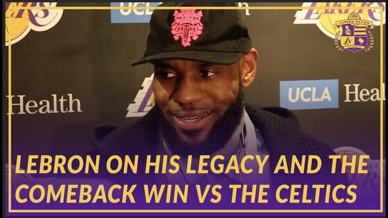 1f11d1820d4 Lakers Post Game: LeBron Talks Legacy, Trade Deadline, New Teammates ...